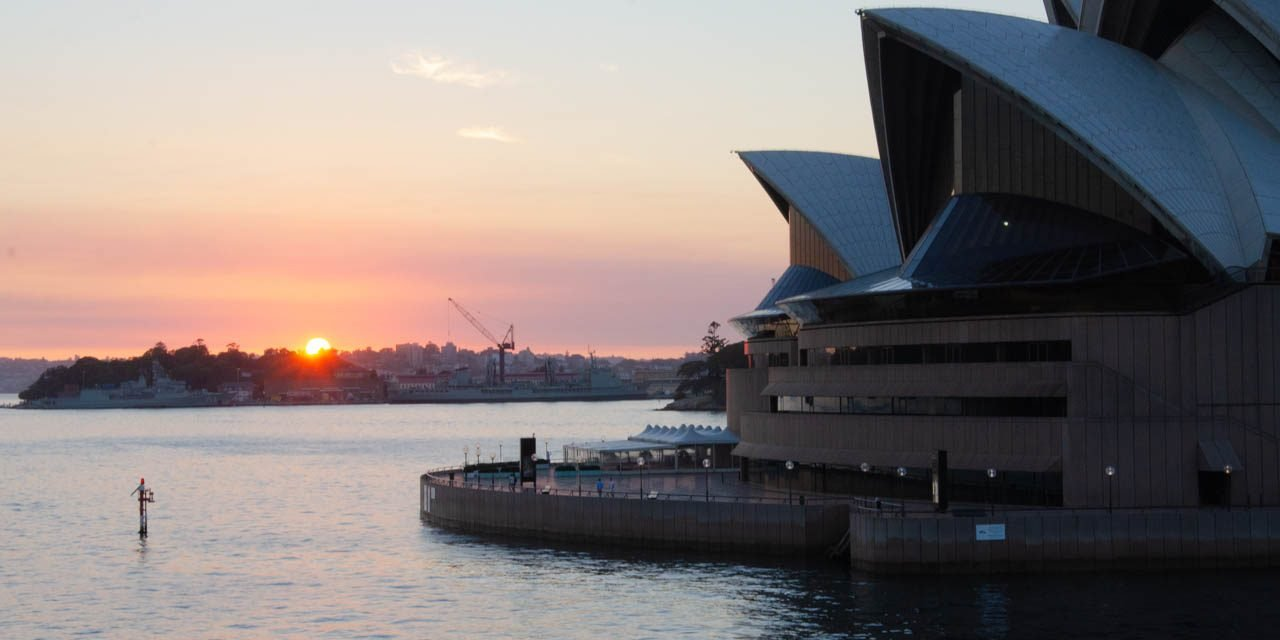 An early morning arrival in Sydney Harbour with Seabourn