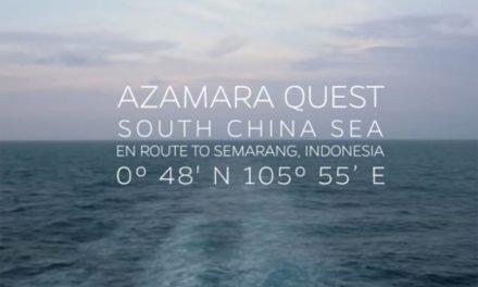 Azamara Quest Arrival into Semarang, Indonesia