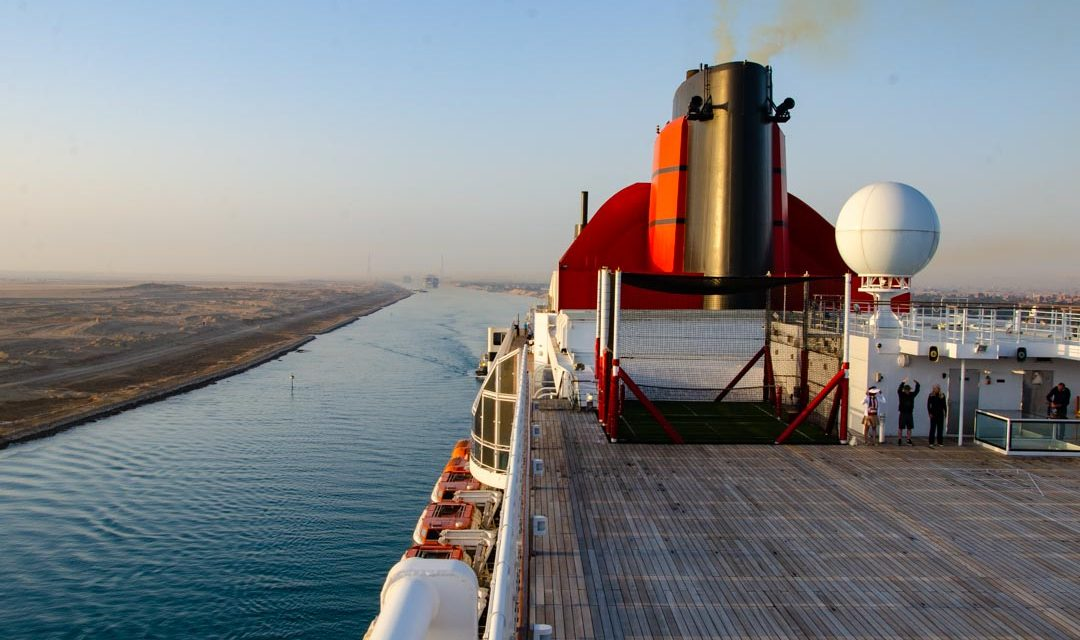 Suez Canal Transit on QM2