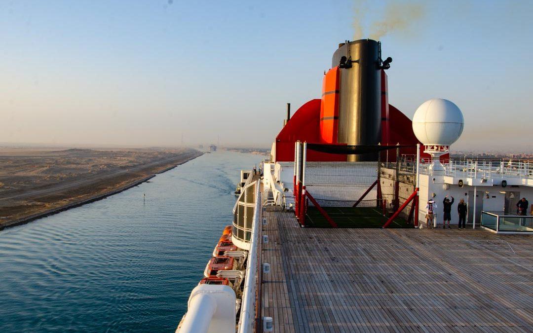 Suez Canal Transit on QM2