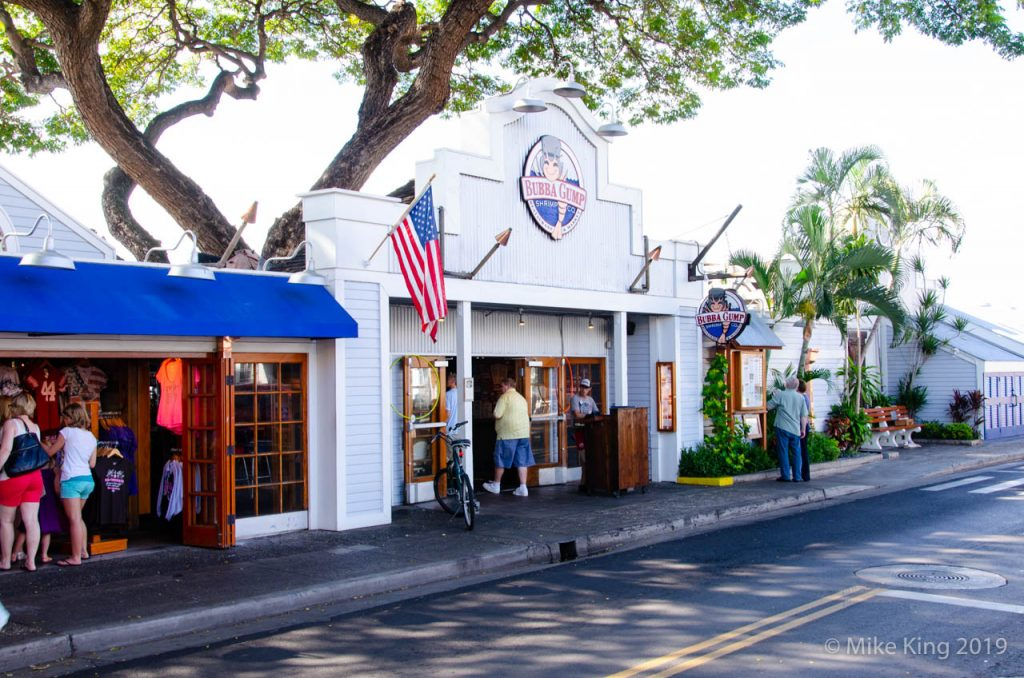 The world famous Bubba Gump restaurant - in Lahaina, Maui, Hawaii