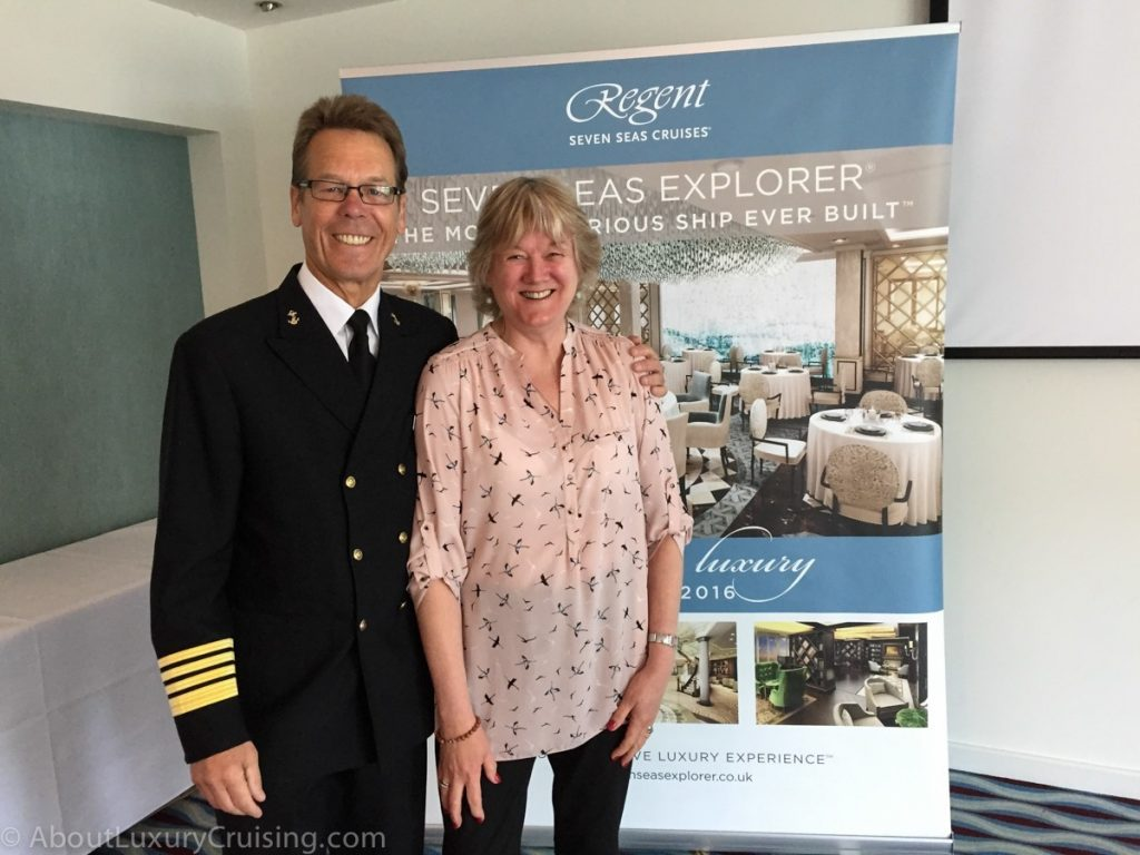 Captain John McNeil with Anita King at the Exclusive Regent Event