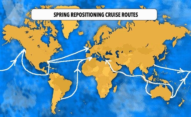 Spring Repositioning Cruises Routes